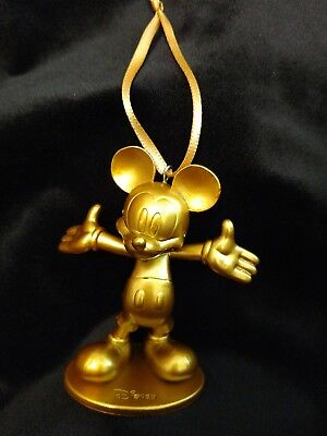 Disney Mickey Mouse 90th Anniversary Golden Mickey Christmas Ornament
