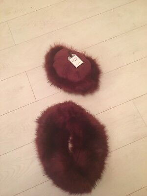 Ladies Designer Look Faux Fur Hat And Scarf New  Make Lovely Christmas Present