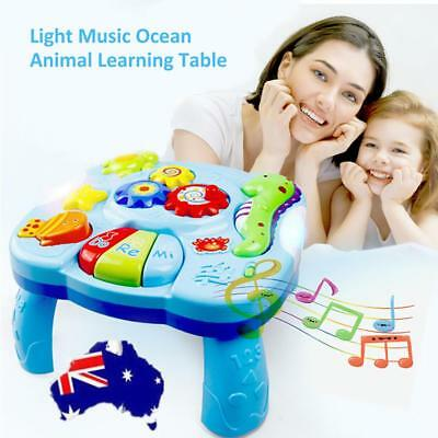 Baby Toys Musical Learning Table Learn Music Activity Center Game Toddler Toy AU
