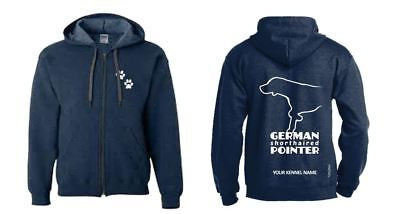 German Shorthaired Pointer Dog Breed Hoodie, Zipped, Exclusive Dogeria Design.