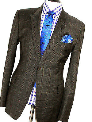 Mens Paul Smith The Mainline Prince Of Wales  Bespoke Custom Suit 44R W36 X L33