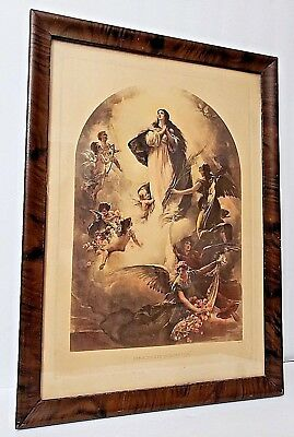 Antique Virgin Mary IMMACULATE CONCEPTION Religious Picture