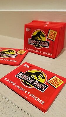 Jurassic Park 1992 Topps Trading Cards || SEALED! NEVER OPENED! || FAST POSTAGE!