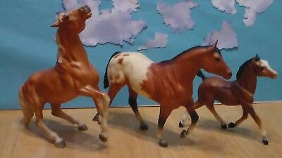 Breyer Traditional Horse lot of 3 Used Mustang, Stock Stallion, Running Foal