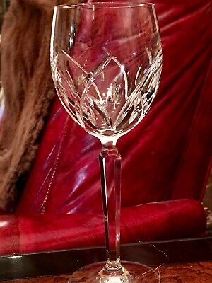"Brilliant Waterford Crystal ""lucerne"" Wine Glasses Tulip Shape Wedge Cuts"