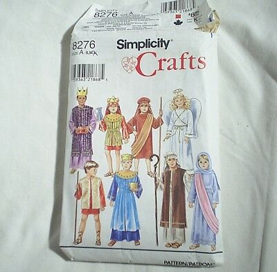 Costume Pattern Halloween Child angel King Shepherd Simplicity 8276 Size S and M