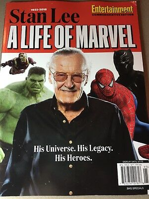 Stan Lee - A Life of Marvel - Entertainment Weekly Special Edition - NEW