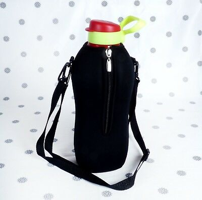NEW Tupperware 2L Eco Drink Bottle and Active Carrier Cover Flip Top Red 2 Litre