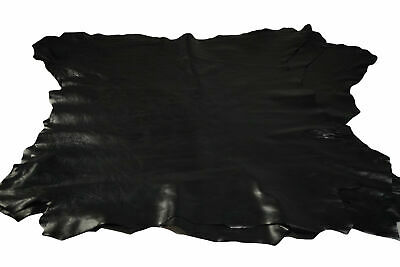 Black Calfskin hides 0.8 - 1 mm Fine grain Soft Pliable Calf leather
