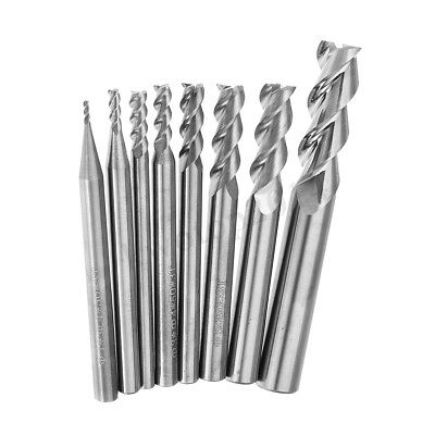 Solid Carbide 3 Flute End Mill 1-8mm HRC58 CNC Milling Cutter Tool For Aluminum