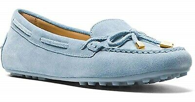 04a506ee6eb0 MICHAEL MICHAEL KORS Navy Blue Daisy Leather Moccasin Loafer 9.5 M ...