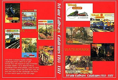 TRIANG HORNBY MODEL RAILWAY catalogues 1955 T0 1972 on DISC