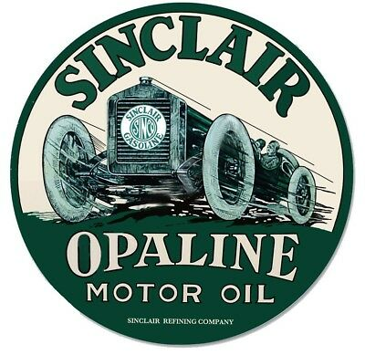 Sinclair Gasoline Opaline Motor Oil  Advertising Signs on Custom Tee shirts