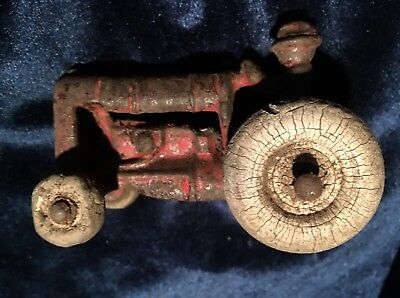 Toy Tractor Cast Iron Antique Vintage
