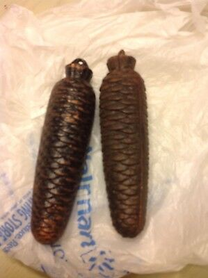 2  Cuckoo Clock Pine Cone Weights - 2 Pounds 12.8 Oz