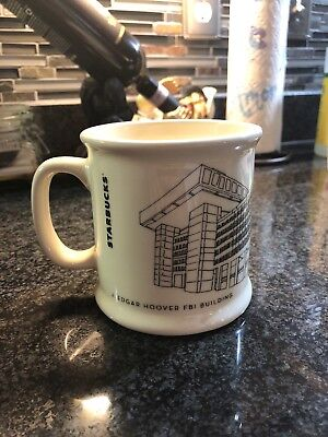 Very Rare FBI J Edgar Hoover Building Starbucks Mug
