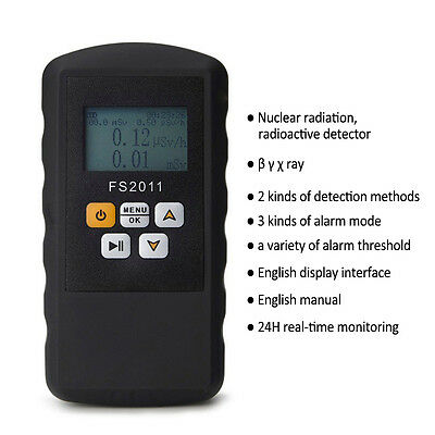 Geiger Counter LCD Nuclear Radiation Dosimeter Detector Beta Gamma X-Ray Tester