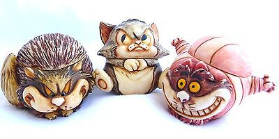 Harmony Kingdom~Walt Disney Cat Set~CHESHIRE~LUCIFER~FIGARO~Figurine LOT~RolyPol