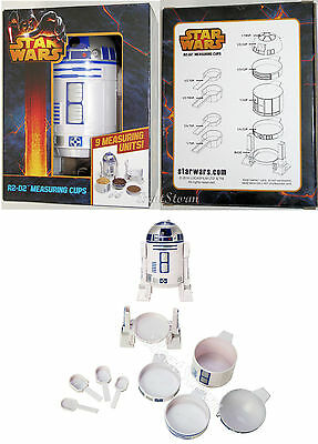 NEW STAR WARS R2-D2 Droid Measuring Cups Spoons 9PC Set Kitchen Homeware Utensil