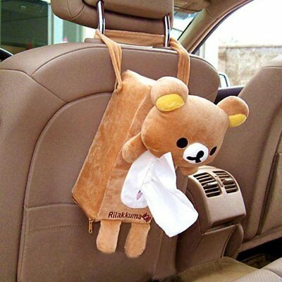Cute Home Office Car Rectangle Tissue Box Cover Holder Paper Bathroom Storage F7