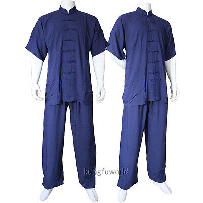 Shortsleeves Tai chi Uniforms Kung fu Martial arts Wushu Suit Taichi Clothes