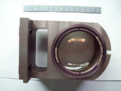 Multiple lens wide spectrum light collector, made by Melles-Griot, USA