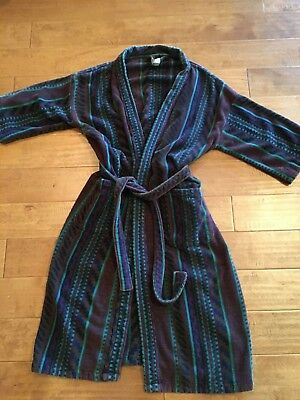 Sterling Manor Unisex One Size Fits All Aztec Southwest Print Terry Wrap Robe
