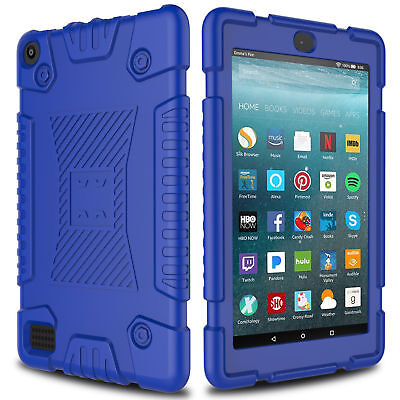 For Amazon Kindle Fire HD 7 2017 Tablet Case Hybrid Rugged Silicone Cover Skin