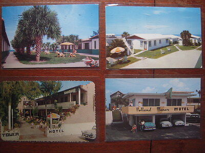 9~ Motel Hotel Cottages Efficiencies Daytona Beach Florida Fl Postcard Lot 1950s