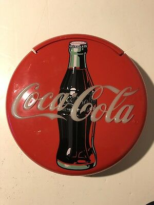 "COKE Coca Cola TELEPHONE LARGE RED BUTTON PHONE 12"" diameter Vintage"
