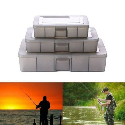 3-24 Compartments Storage Case Fishing Lure Spoon Hook Bait Tackle Box Container