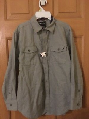 Nwt Boys Nautica Dress Shirt Size 10/12