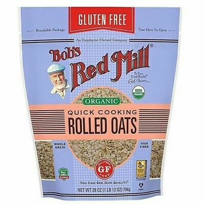 Bob'S Red Mill Oats, Organic, Gluten Free, Rolled, Quick Cooking 28 Oz, 4 Pack