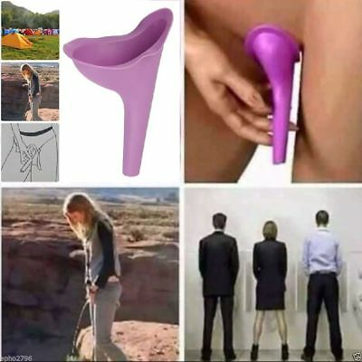 Women Female Portable Urinal Travel Outdoor Stand Up Pee Urination Device Case