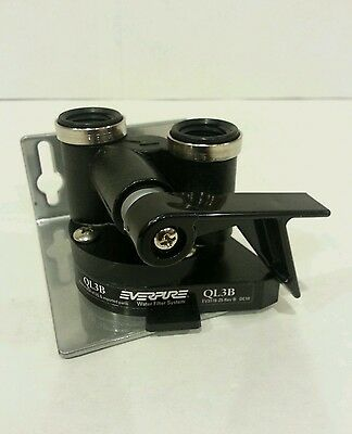 Everpure QL3B Filter Head with Mounting Bracket and shut-Off Valve