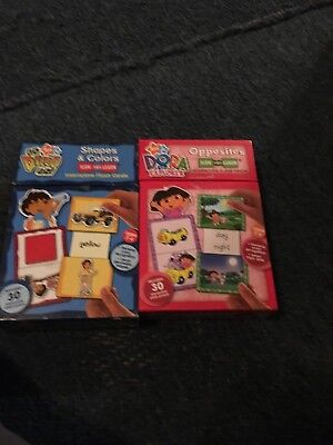 dora the explorer flash cards+diego slide and learns interactive cards