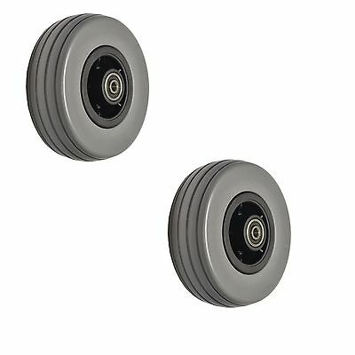 """6""""x2"""" Front and Rear Caster Wheels for Quantum Q6 Edge & Q6000Z Gray / Dark Gray"""