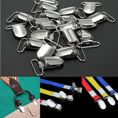 10/20Pcs Metal Baby Holder Insert Pacifier Silver Tone Suspender Clips Mitten