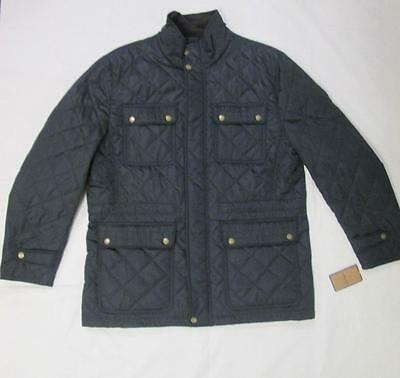 G.h. Bass And Co. Mens Blue Brown Nylon Quilted Winter Coat Jacket 2Xl  Nwt $250