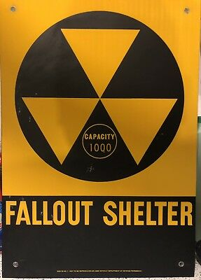 Fallout Shelter Sign From Old Lapd Rampart Division. Authentic. 14X20