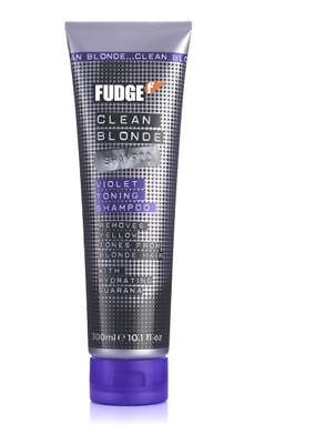 Fudge Clean Blonde Violet Silver Toning Purple Shampoo 300 ML