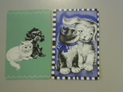 2 Swap/Playing Cards - Cute Dog and Cat^^