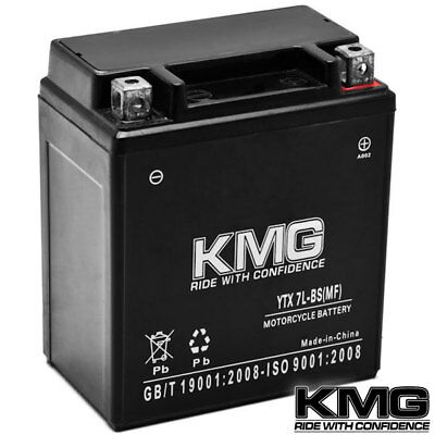 YTX7L-BS KMG Maintenace Free 12 Volt Battery Powersport Sportbikes Cruisers SMF