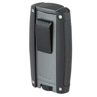 Xikar TURISMO Double Torch Lighter MATTE GRAY #558GR Free Leather Case SAVE 18%!
