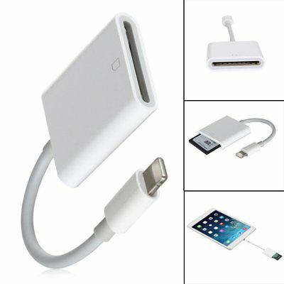 1x OTG Lightning Adapter to SD Card Camera Reader Photo For apple iPad iPhone WY