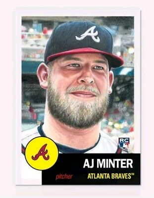 2018 Topps Living Set 119 AJ Minter Atlanta Braves Retro 1953 Style PRESALE
