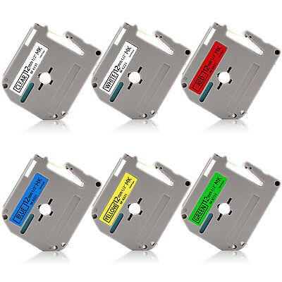 6PK MK131 231 431 531 631 731 12mm Compatible For Brother P-Touch PT90 80 70 100