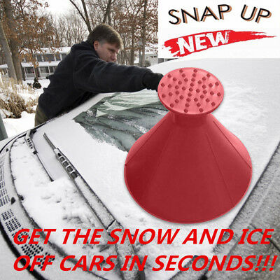 Magic Car Windshield Ice Scraper Tool Cone Shaped Round Funnel Remover Snow New