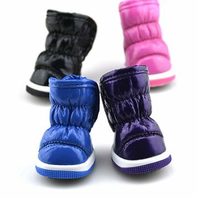 US 4Pack Dog Shoes Pet Boots Booties for Snow Winter Spring Waterproof Anti-slip