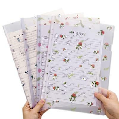 A4 Gifts Zipper Documents Pouch Stationery Cherry Blossom Paper File Folder